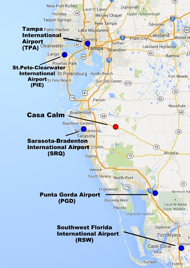 Casa Calm Bed & Breakfast in Florida: Getting Here